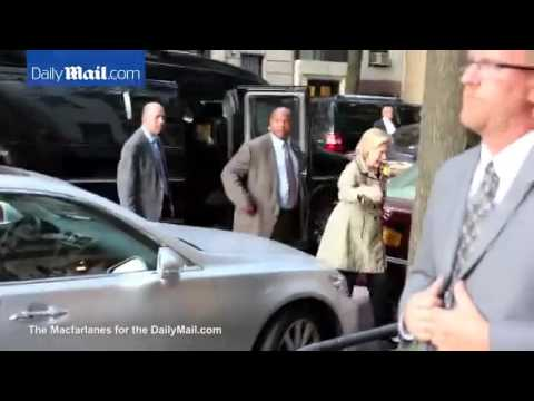 Hillary Clinton arrives at Marc Lasry's house for fundraiser