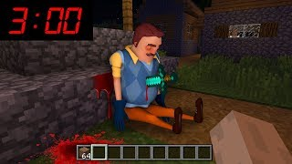 Minecraft : WHAT HAPPENED TO HELLO NEIGHBOR AT 3AM??? (Ps3/Xbox360/PS4/XboxOne/PE/MCPE)