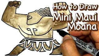 모아나 그리기 미니 마우이 그리기 디즈니 캐릭터 그리기 데미갓 타투 문신 그리기 How to draw Mini Maui from Moana Disney [노란연필TV]