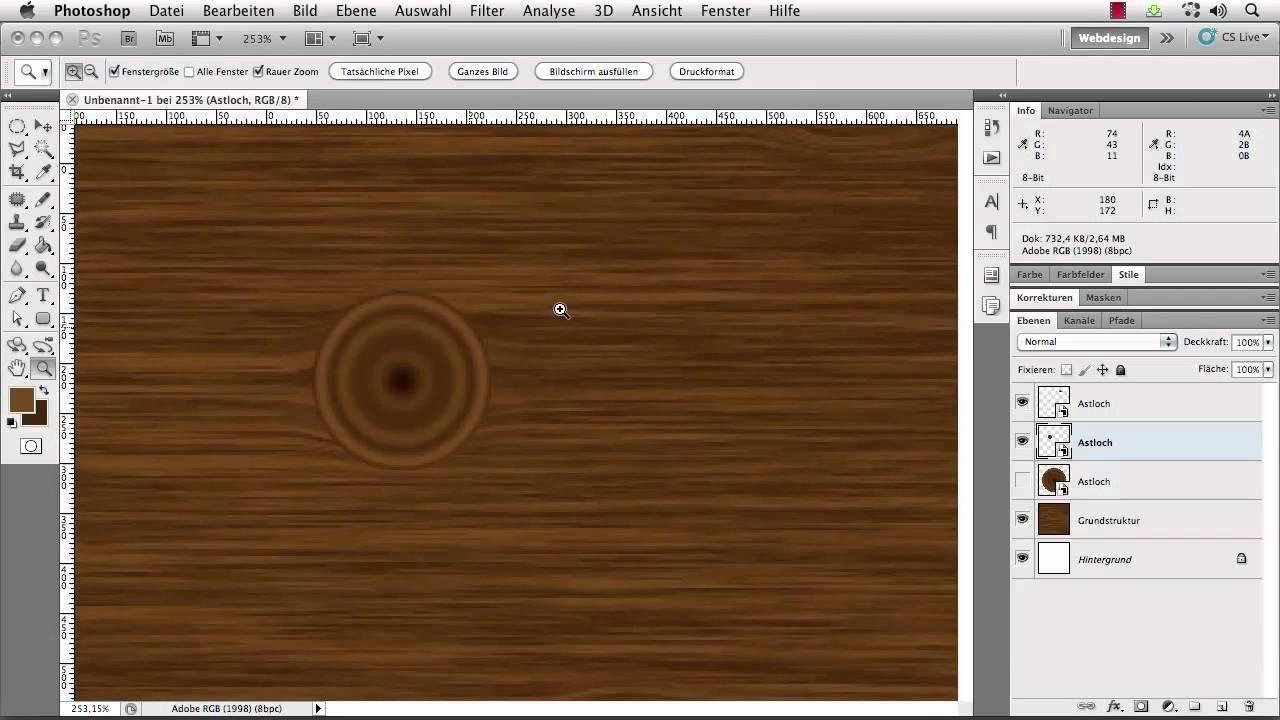 Adobe Photoshop Tutorial - realistische Holzstruktur ...