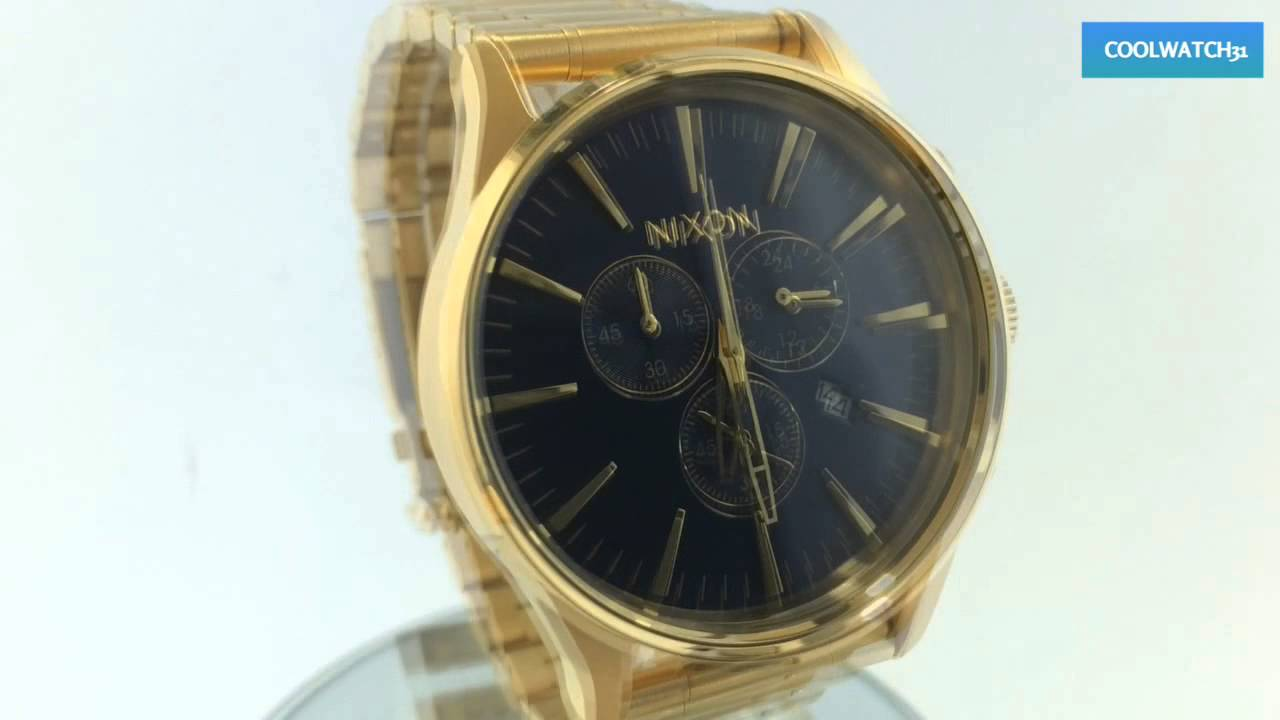 97782d4c4 COOLWATCH31 A386-1922 NIXON SENTRY CHRONO GOLD BLUE SUNRAY A3861922 ニクソン  セントリー クロノ ゴールド ブルー ver3.0