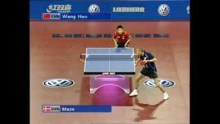 2005 WTTC: Michael Maze - Wang Hao (full...