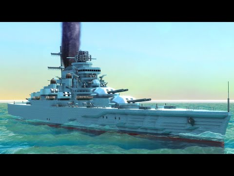 Building A Glorious War Fleet & Navy Warships - From the Depths Gameplay - 동영상