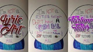 Fortune Teller ~ Maroon 5 ~ Lyric Art