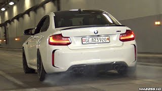 BEST of German Car Sounds & Burnouts in the Tunnel! - C63 AMG, BMW M4, Audi RS6 & More!
