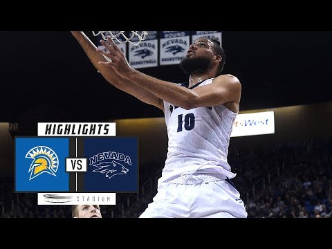 San Jose State vs. No. 10 Nevada Basketball Highlights (2018-19) | Stadium