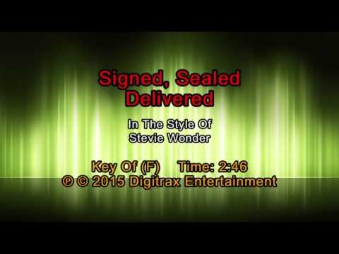 Stevie Wonder - Signed, Sealed, Delivered I'm Yours (Backing Track)