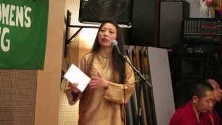 Rose Tang's speech on Tibetan Women's Uprising Day 2014 唐路在西藏妇女抗暴日55周年的演讲视频