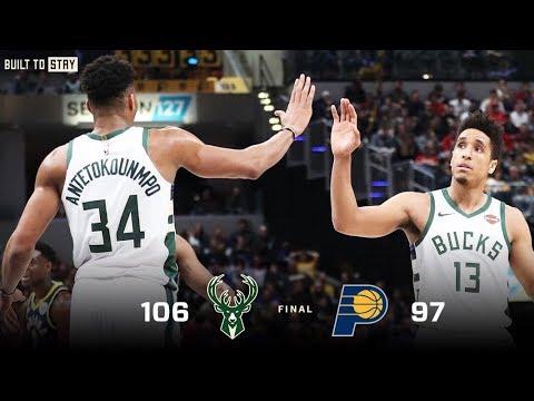 Bucks - Highlights; Bucks 106, Pacers 97