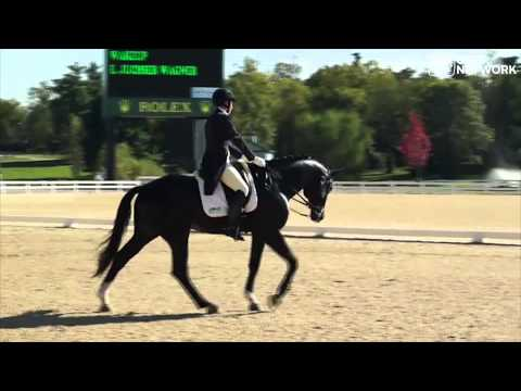 Emily Wagner & Wakeup Intermediare I Freestyle at the 2013 DressageFOC