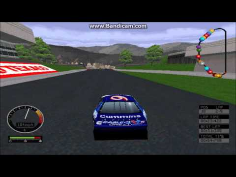 NASCAR Road Racing (PC) Gameplay (Mark Martin) (Bridgeport Speedway) (5 Laps)