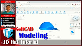 Selfcad 3D Modeling Hat Tutorial For Beginner