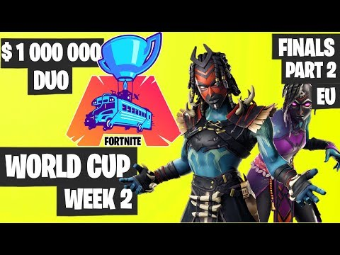 fortnite world cup week 2 highlights final part 2 eu duo fortnite tournament 2019 - fortnite duo world cup