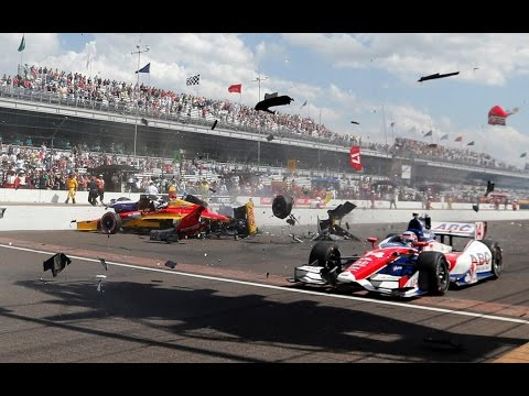 Indycar Crashes 2014