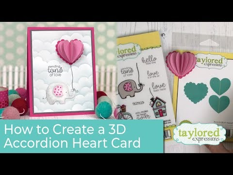 How to Create a 3D Accordion Heart Card