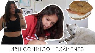 48H CONMIGO DE EXÁMENES | VLOG | Laura Yanes