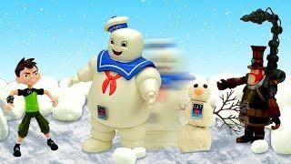 Видео игры – Бен 10 и гигантский снеговик Стима Смита!