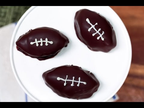 How To Make Delicious Football-Shaped Cookie Dough Bites | Southern Living