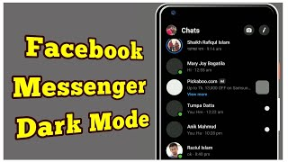 How to Enable Facebook Messenger Dark Mode All Android - TrickLoad