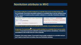 68  What is the use of NonAction attribute in mvc FTG MVC .NET | MVC .Net Tutorial