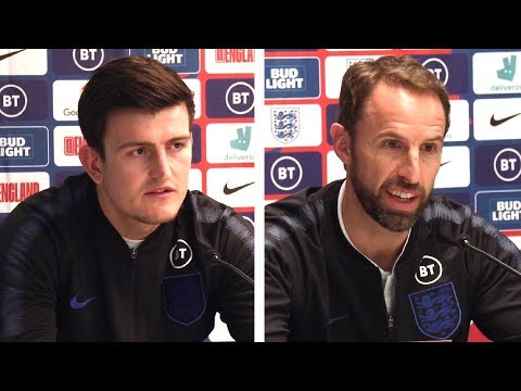 Gareth Southgate & Harry Maguire FULL Pre-Match Press Conference - England v Montenegro - Qualifier