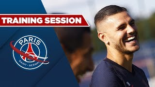 TRAINING SESSION : PARIS SAINT-GERMAIN vs STRASBOURG with Mauro ICARDI and Neymar JR