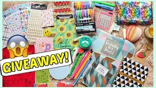 **GIVEAWAY** Stationery items | Cute and Trendy Back to school supplies | Free Gifts!!
