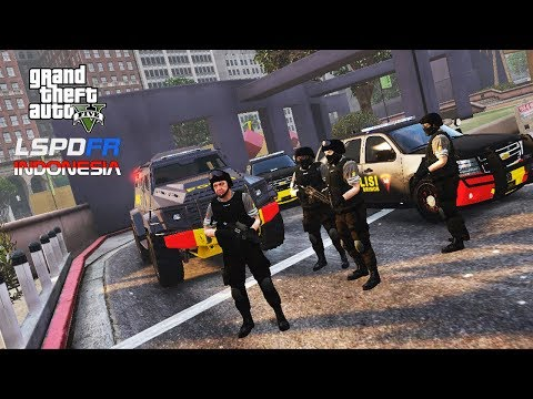 LSPDFR INDONESIA #3 BRIMOB In Action!!!  GTA 5 REAL LIFE PC MOD