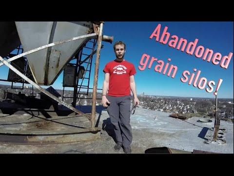 Climbing an abandoned grain silo in Omaha.