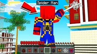 How to PLAY as SPIDER MAN in Minecraft!