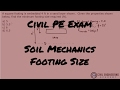 Geotechnical-Footing Size Using Ultimate Bearing Equation