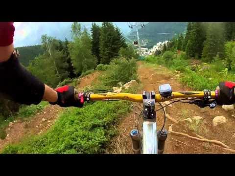 downhill mountain bike run oz en oisans  alpe d'huez mega