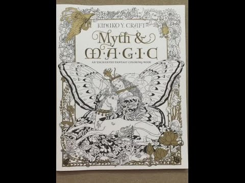 Myth Magic An Enchanted Fantasy Coloring Book By Kinuko Y Craft