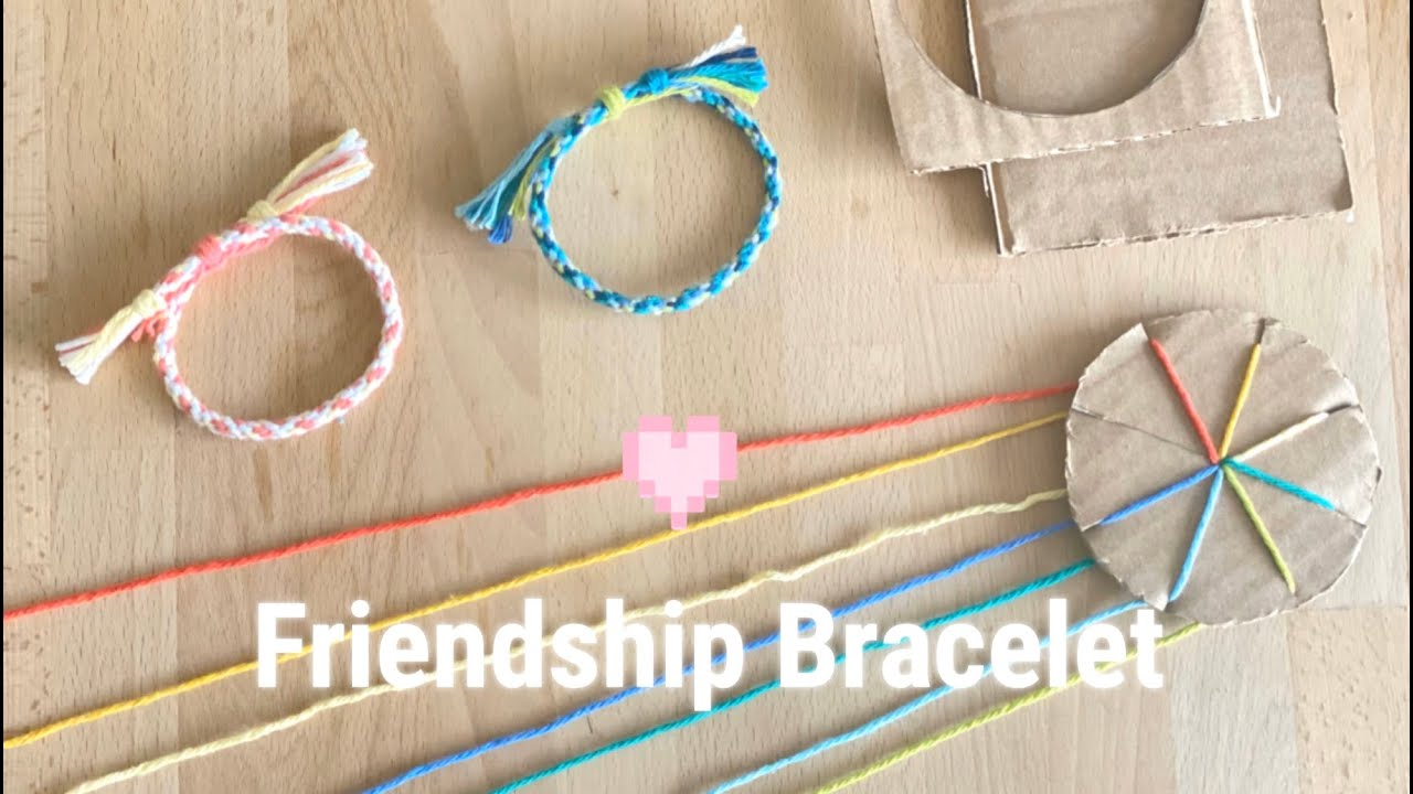 Friendship Bracelet - Using Cardboard Wheel