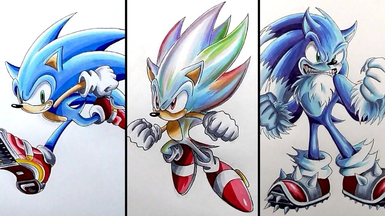 This is a picture of Zany Drawing Sonic Characters