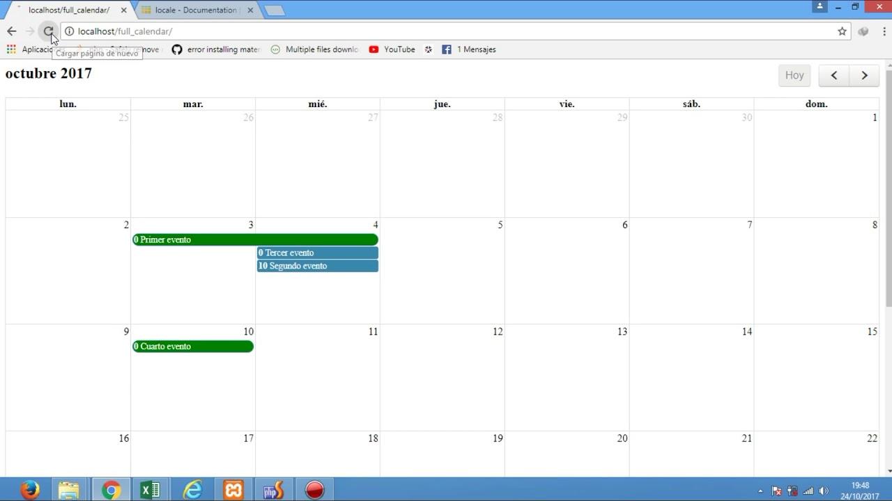 05 - Full Calendar, Cambiar de idioma