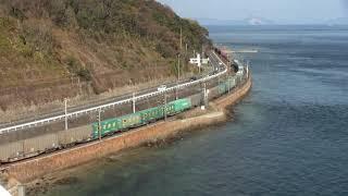 【JR貨】EF210牽引 高速貨物 1051レ 大型コンテナがいっぱい(FHD)