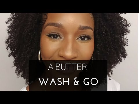 HOW TO DO A DRY WASH AND GO USING BUTTER