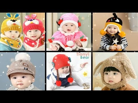 [VIDEO] - Cute and Beautiful Baby / kids Cozy and warm Fashion winter knitted wool Caps /hat & Muffler / scarf 6
