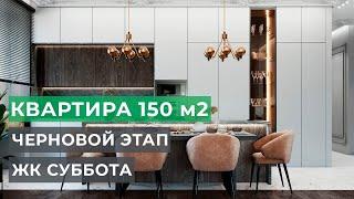 Качественный ремонт квартир под ключ в Москве. Ремонт в квартире 150 м2 ЖК Суббота