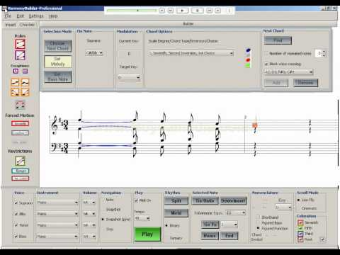 How to harmonize a melody with composition software
