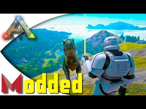 ARK: Pooping Evolved Modded - Mastercraft Lightsaber and Valhalla Dungeon! S1E6 Gameplay