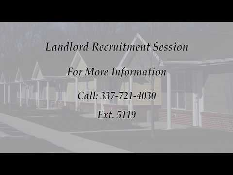 Calcasieu Parish Human Services Housing Department will host a Landlord Recruitment Session