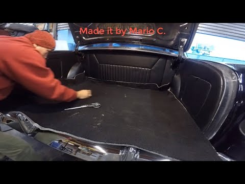1956 Chevy Bel Air.  How to make a custom trunk
