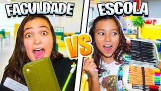 MATERIAL ESCOLAR 2019! - ESCOLA VS FACULDADE! (c/ Rafa)