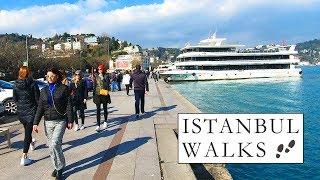 Walking in Istanbul 2019 Bosphorus Walk to Bebek | Istanbul Walking Tour 2019