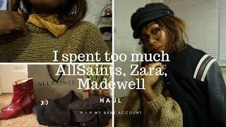 Winter Sale Haul || All Saints, Zara, Madewell, Brixton