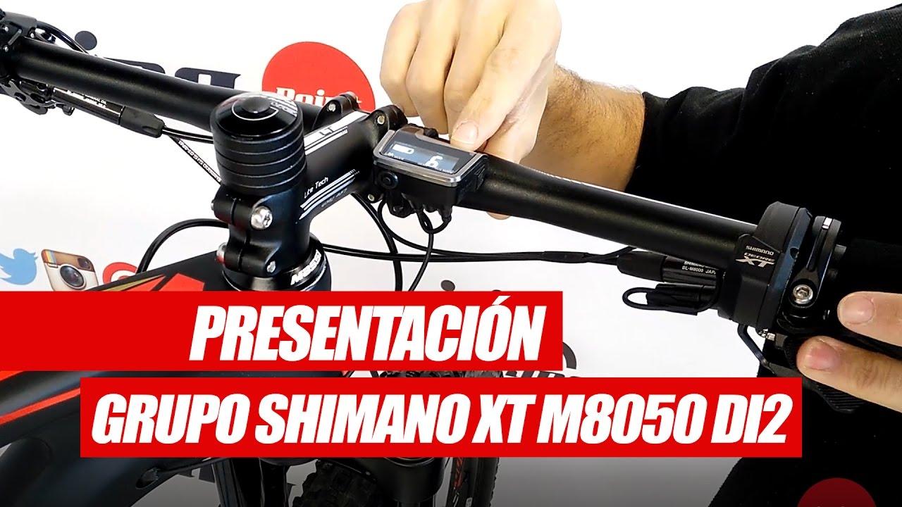 PRESENTACIONES PRODUCTO | Grupo Shimano XT M8050 DI2 - YouTube