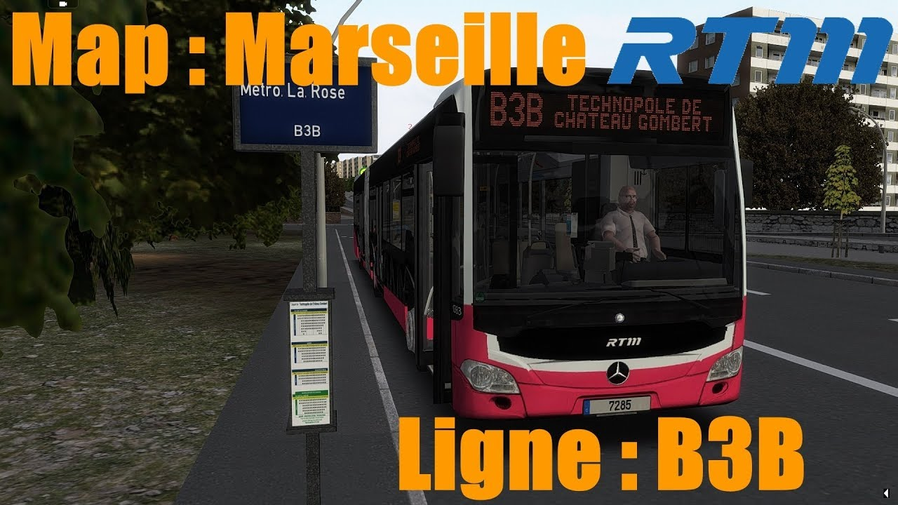 map marseille ligne b3b bus citaro c2g omsi2 youtube. Black Bedroom Furniture Sets. Home Design Ideas