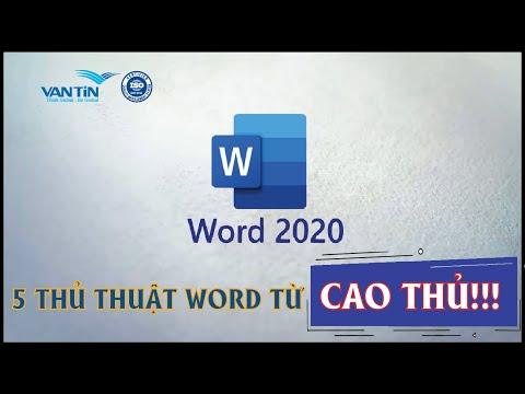 5 thủ thuật sử dụng Microsoft Word từ cao thủ - phần 1   Dịch thuật Vạn Tín